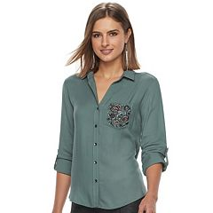 Women's Rock & Republic® Embellished Shirt