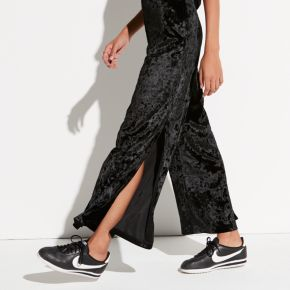 k/lab High-Waist Wide Leg Velvet Pants