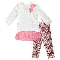 Baby Girl Youngland Lace Sweater Dress & Leggings Set