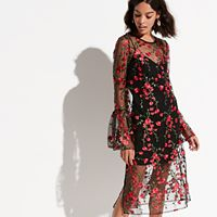 k/lab Floral Overlay Dress