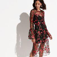 k/lab Floral Overlay Dress