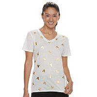Disney's Mickey Mouse Juniors' Gold Foil Tee