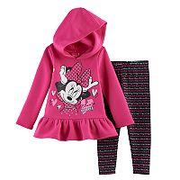 Disney's Minnie Mouse Toddler Girl Hoodie & Leggings Set