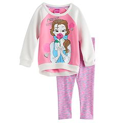 Disney's Belle Toddler Girl 'Dream With Me' Top & Space-Dyed Leggings Set