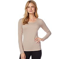 Women's Heat Keep Base Layer Scoopneck Long Sleeve Top