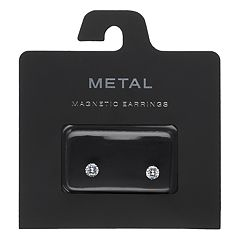 Simulated Crystal Nickel Free Magnetic Stud Earrings