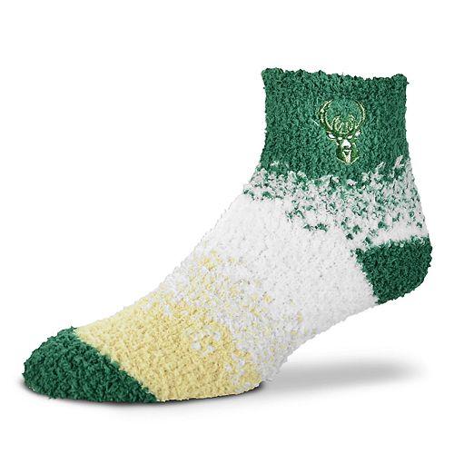 Women's For Bare Feet Milwaukee Bucks Marquee Sleep Socks
