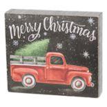 """Merry Christmas"" Box Sign Art"