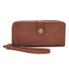 Stone & Co. Nubuck Large Snap Tab Zip Around Wallet