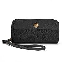 Stone & Co. Pebble Large Double Zip Around Wallet