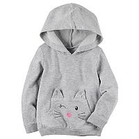Toddler Girl Carter's Animal French Terry Hoodie