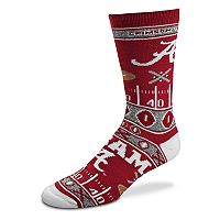 Adult For Bare Feet Alabama Crimson Tide Super Fan Crew Socks