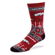 Adult For Bare Feet Arkansas Razorbacks Super Fan Crew Socks