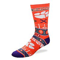 Adult For Bare Feet Clemson Tigers Super Fan Crew Socks