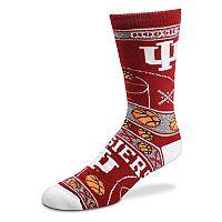 Adult For Bare Feet Indiana Hoosiers Super Fan Crew Socks