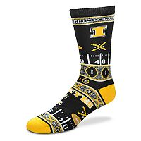 Adult For Bare Feet Iowa Hawkeyes Super Fan Crew Socks