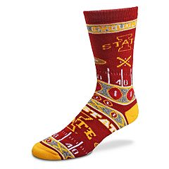 Adult For Bare Feet Iowa State Cyclones Super Fan Crew Socks