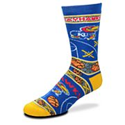 Adult For Bare Feet Kansas Jayhawks Super Fan Crew Socks