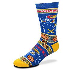 Adult For Bare Feet Kansas Jayhawks Super Fan Crew Socks