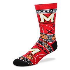 Adult For Bare Feet Maryland Terrapins Super Fan Crew Socks