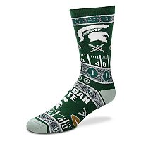 Adult For Bare Feet Michigan State Spartans Super Fan Crew Socks