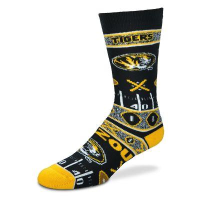 Adult For Bare Feet Missouri Tigers Super Fan Crew Socks