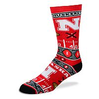 Adult For Bare Feet Nebraska Cornhuskers Super Fan Crew Socks