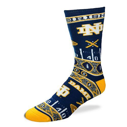 Adult For Bare Feet Notre Dame Fighting Irish Super Fan Crew Socks