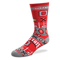 Adult For Bare Feet Ohio State Buckeyes Super Fan Crew Socks