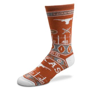 Adult For Bare Feet Texas Longhorns Super Fan Crew Socks