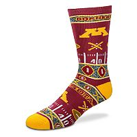 Adult For Bare Feet Minnesota Golden Gophers Super Fan Crew Socks