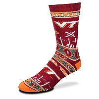 Adult For Bare Feet Virginia Tech Hokies Super Fan Crew Socks