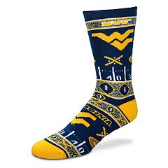 Adult For Bare Feet West Virginia Mountaineers Super Fan Crew Socks