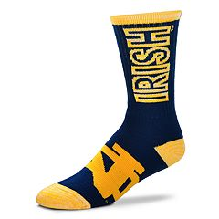 Adult For Bare Feet Notre Dame Fighting Irish Crush Crew Socks