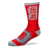 Adult For Bare Feet Ohio State Buckeyes Crush Crew Socks