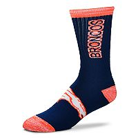Adult For Bare Feet Denver Broncos Crush Crew Socks