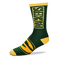 Adult For Bare Feet Green Bay Packers Crush Crew Socks