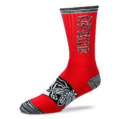 Adult For Bare Feet Chicago Blackhawks Crush Crew Socks