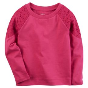 Toddler Girl Carter's Lace-Shoulder Top