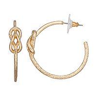 Dana Buchman Knot Hoop Earrings