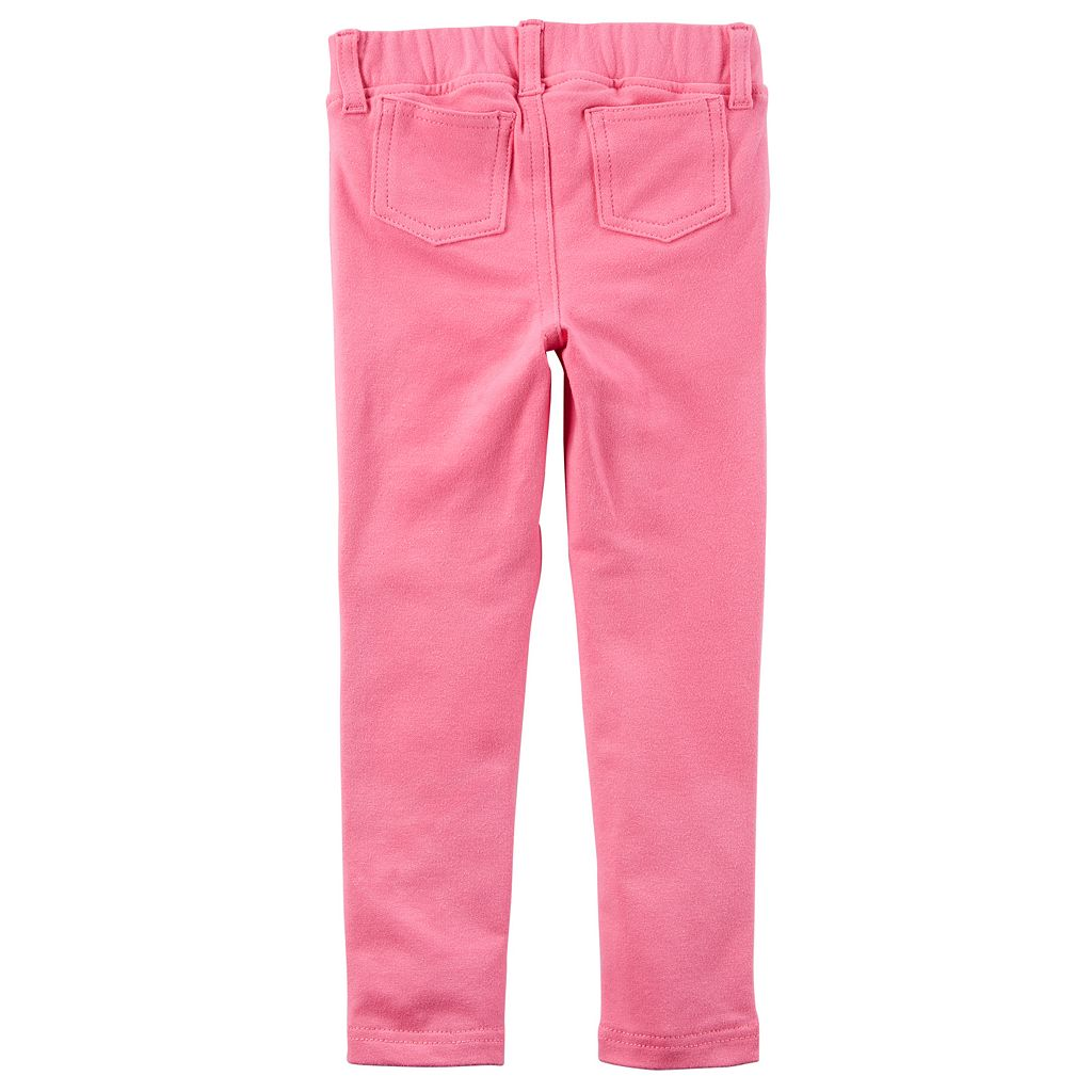 Toddler Girl Carter's Embroidered Animal French Terry Pants
