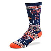 Adult For Bare Feet Chicago Bears Super Fan Crew Socks