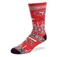 Adult For Bare Feet San Francisco 49ers Super Fan Crew Socks