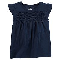 Toddler Girl Carter's Smocked Flutter Tee