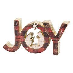 Plaid 'Joy' Christmas Table Decor