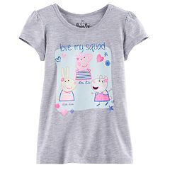 Girls 4-7 Peppa Pig, Suzy Sheep & Rebecca Rabbit 'Love My Squad' Tee