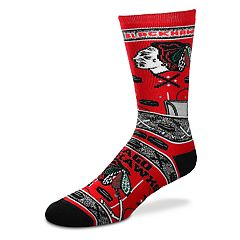 Adult For Bare Feet Chicago Blackhawks Super Fan Crew Socks