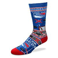 Adult For Bare Feet New York Rangers Super Fan Crew Socks