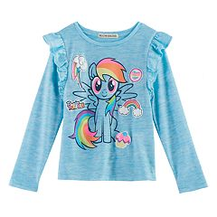 Girls 4-7 My Little Pony: The Movie Rainbow Dash 'Ponies Forever' Ruffle Top