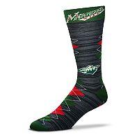 Men's For Bare Feet Minnesota Wild Fan Nation Crew Socks